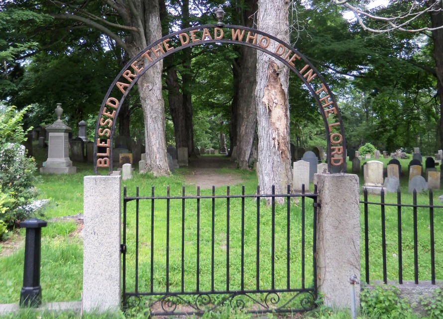 Entrance to the old South Cemetery in Ipswich