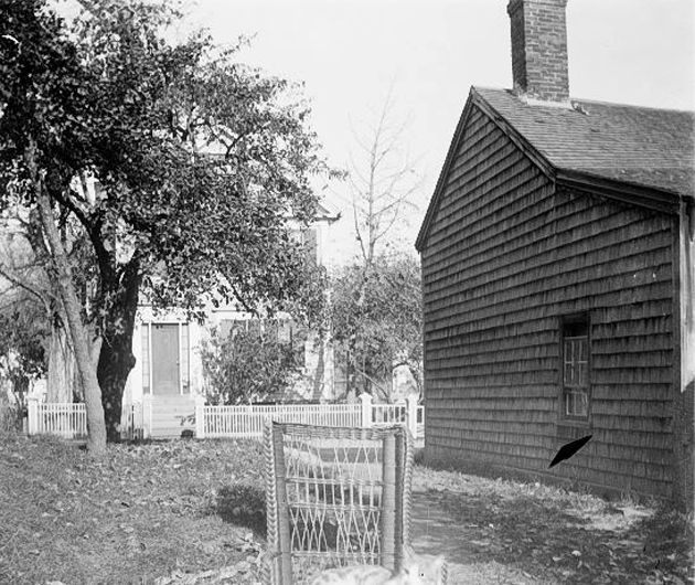 The house at 16 Elm Street is in the distance, taken from the house at 17 Summer Street.