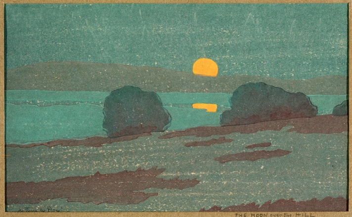 Moon on the Hill by Arthur Wesley Dow