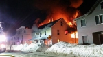 Fire broke out in the flooring store on Central Street in Ipswich around 5 am on the morning of February 17. Photo by Niki Trachia