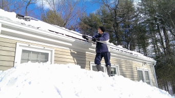 Gordon clearing his roof (again) February 23