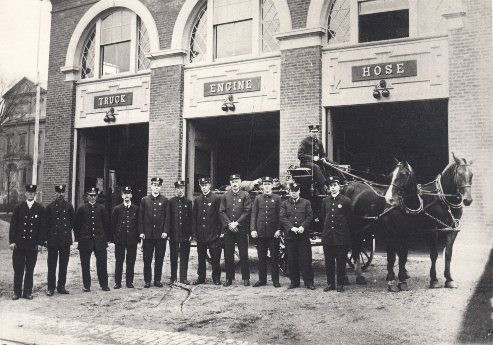 Photo provided by the Ipswich Museum of the Ipswich MA fire department