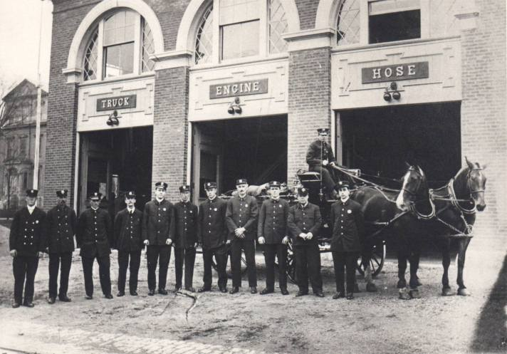 The Fire station is over 100 years old, still in use.