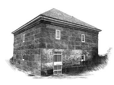 The Ipswich stone jail was built in 1808, on or near the North Green, and was probably similar to the Old Stone Jail still standing in Hanover, MA. The Ipswich stone jail was widely disparaged as a dungeon. A new large jail was built on Green Street in 1828 and stayed in service until 1933 ,when it was torn down to build the former High School that now serves as the Town Hall.