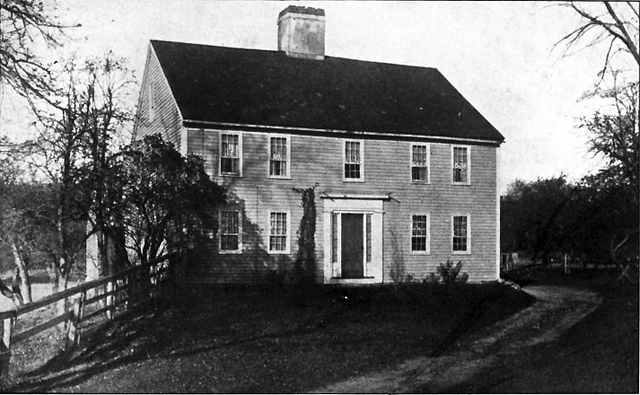 The Moses Jewett house in 1900, from Thomas Franklin Waters' book Ipswich Village and the Old Rowley Road