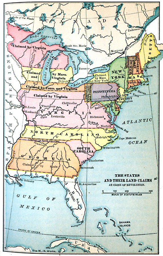 Massachusetts ceded its claim in 1785.