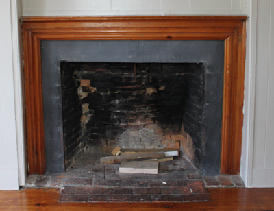 Fireplace in the Samuel Dutch House