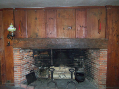 fireplace with summer beam mantel