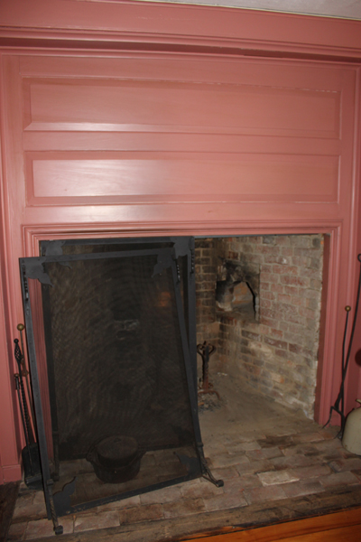 Fireplace and woodwork in the Samuel Dutch House