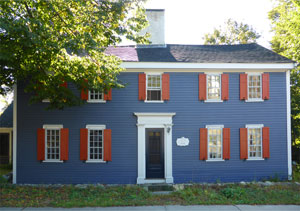 Caleb A. Kimball House, 106 High St. House with Orange Shutters, Ipswich MA