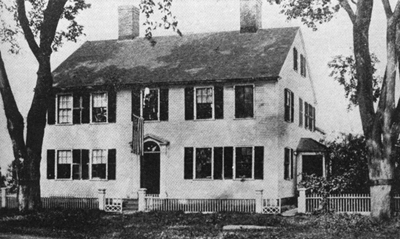 David Kimball house, 8 Meetinghouse Green, old photo