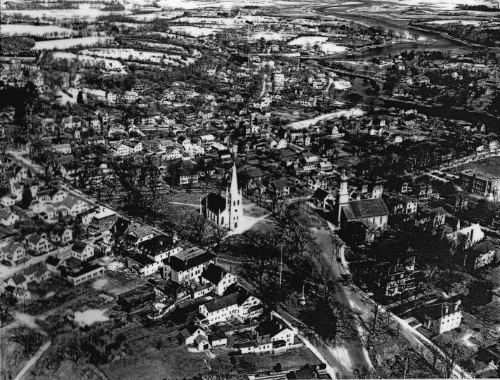 Early aerial view of Ipswich
