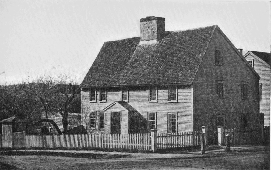 Another view of the Caleb Lord house, where the live