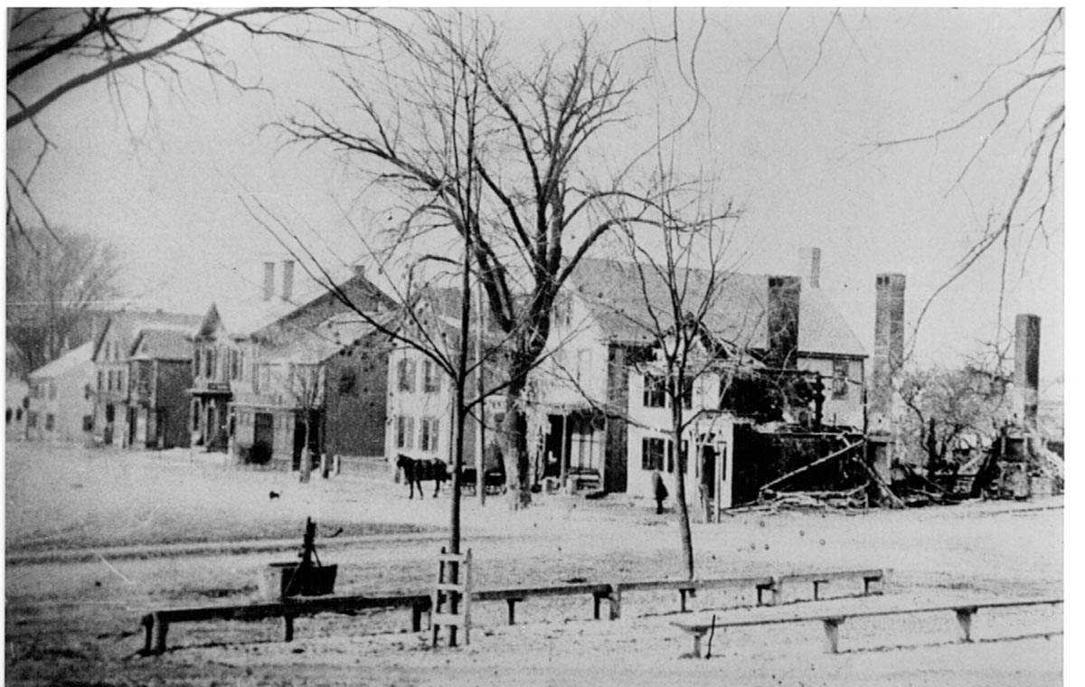 Market St. in Ipswich before the fire