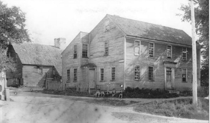 This Christian Wainwright house was moved to the corner of Market and Saltonstall, later demolished. The Whipple House is in its original location behind it.