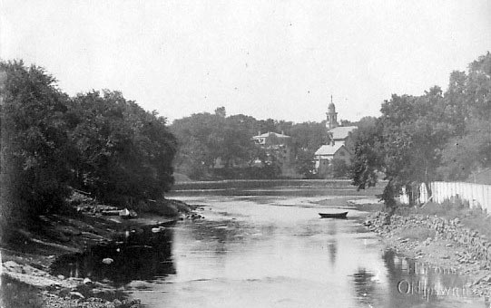 The Ipswich River looking upstream