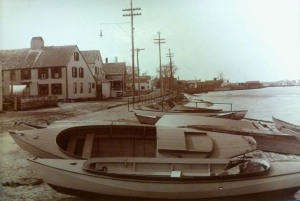 Clam boats on Water St In Newburyport