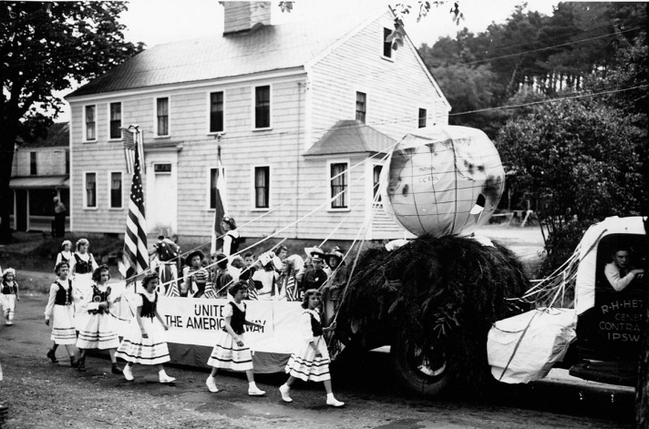 High St. parade in front of the Lord-Baker house