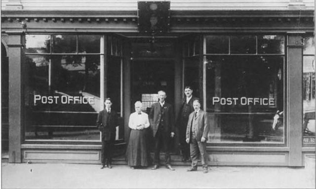 Luther Wait at the Post Office when it was on Central St.