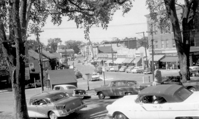 View from the Town Green, 1960