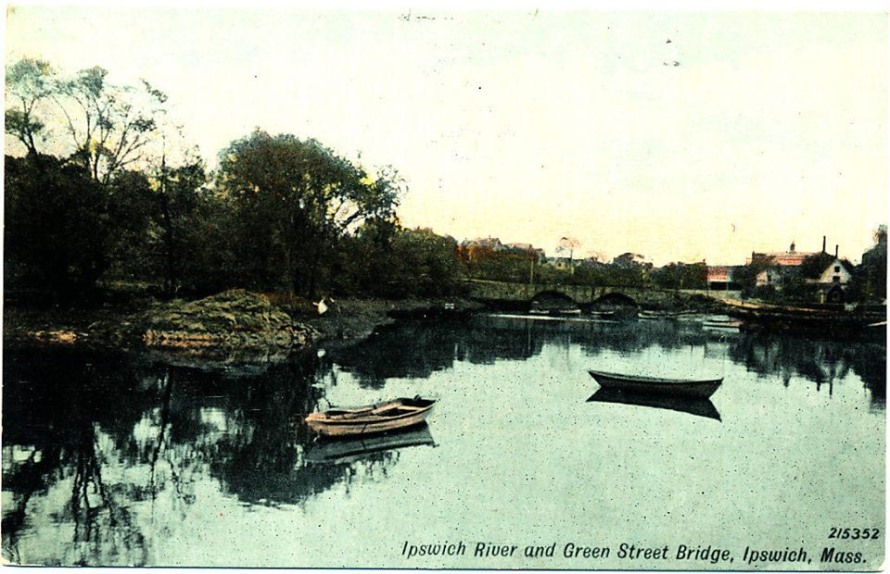 Water Street and the Ipswich River from the Green Street bridge.