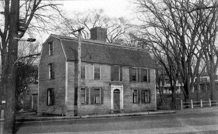 Sally Choate house where the war memorial is now