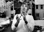 John Updike at his home on East Street