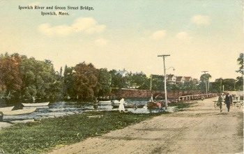 Water Street and the Green Street bridge