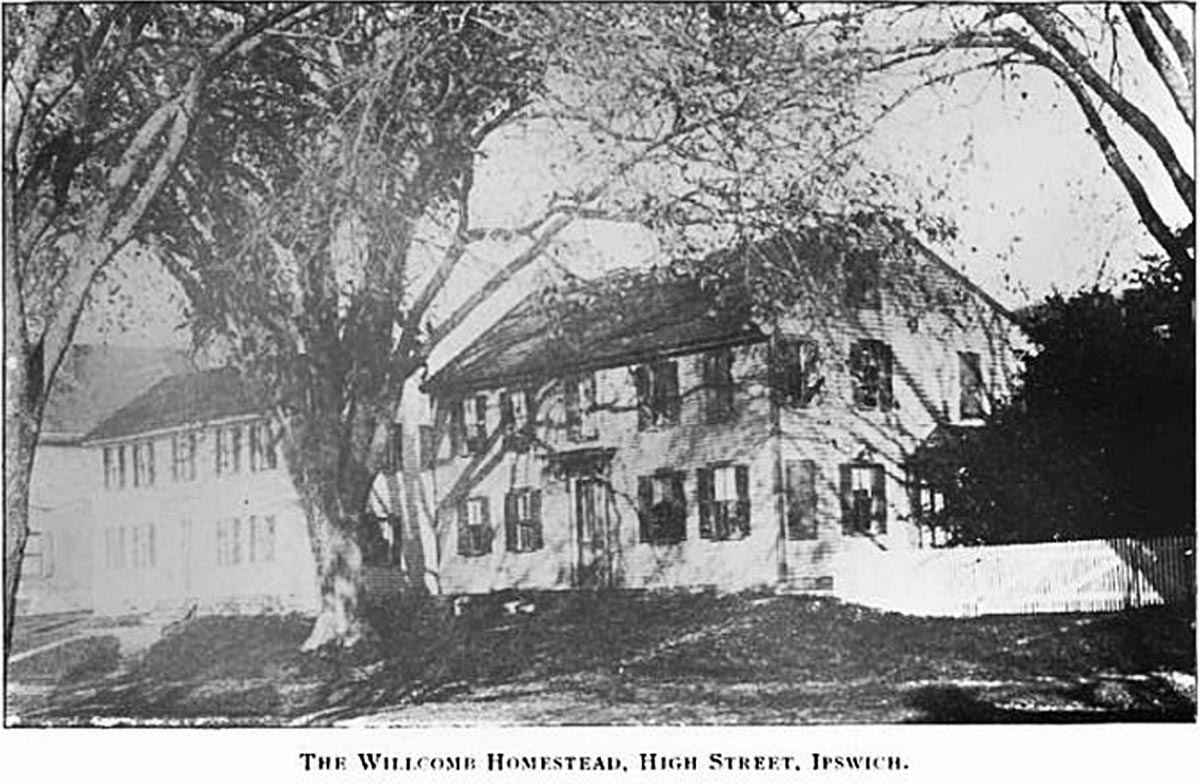 The Willcomb house on High St. in Ipswich