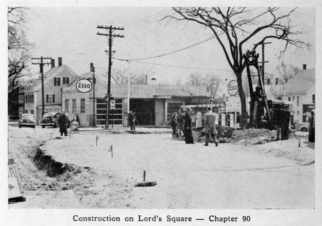 Repaving High St., 1951. It will be finished any day now!