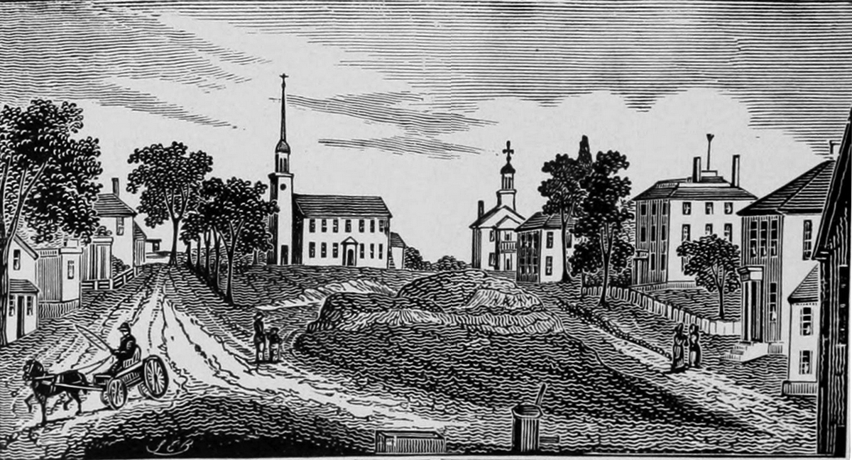 Woodcut of Ipswich MA, S. E. Brown