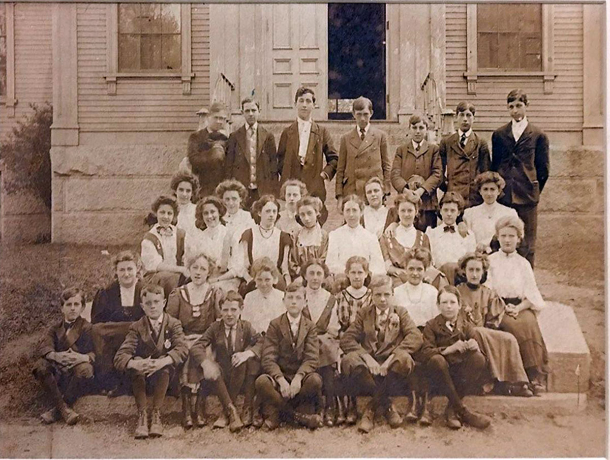 One of the first classes at Manning School in Ipswich