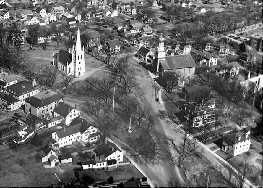 Meeting House Green Ipswich aerial view