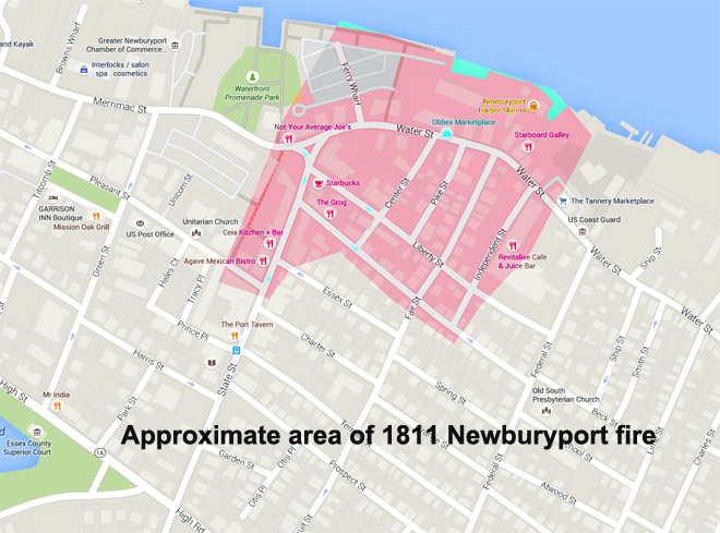 The Newburyport Fire of 1811. View another image from the Newburyport Library.