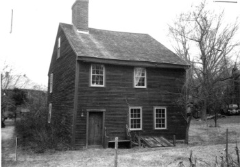 Churchill house, one of the 12 remaining First Period houses in Plymouth MA
