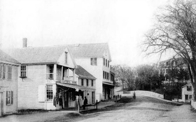 South Main St. and the Choate Bridge,at the end of the 19th Century.