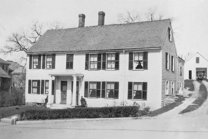 The home of Ebenezer Stanwood house is on North Main St. across from the lower North Green.