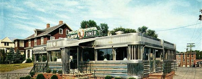 Agawam Diner (postcard image).  View more photos at https://storiesfromipswich.org/2014/03/31/the-agawam-diner/