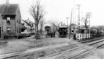 High Street trolley historic photo Ipswich MA
