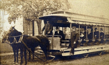 Horse-drawn trolley, Ipswich MA