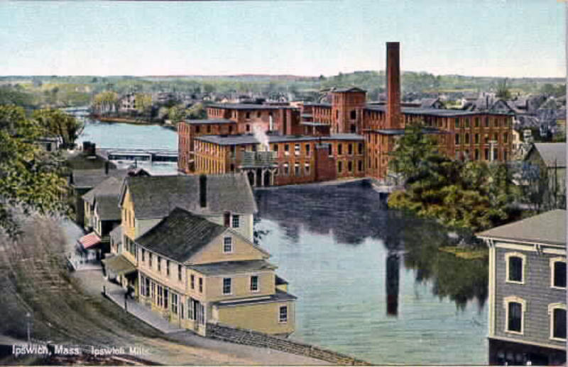 Photo of the mills, taken from the roof of the Ipswich Female Seminary on North Main St.