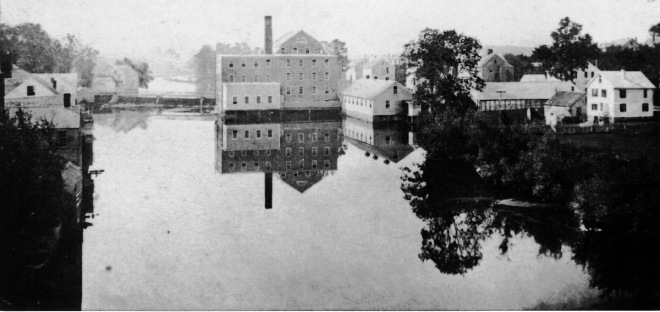 The old stone mill, and the dam that was built in the early 1800s.