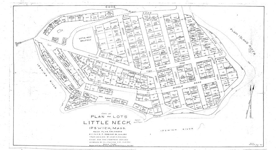 Plan of Little Neck Ipswich MA