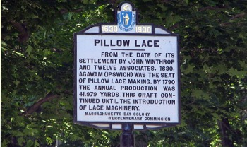 Pillow Lace Sign, High St., Ipswich MA
