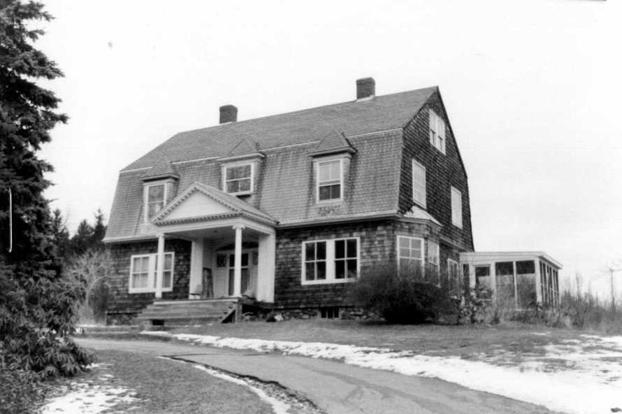The house at 13 Spring St. in the late 20th Century