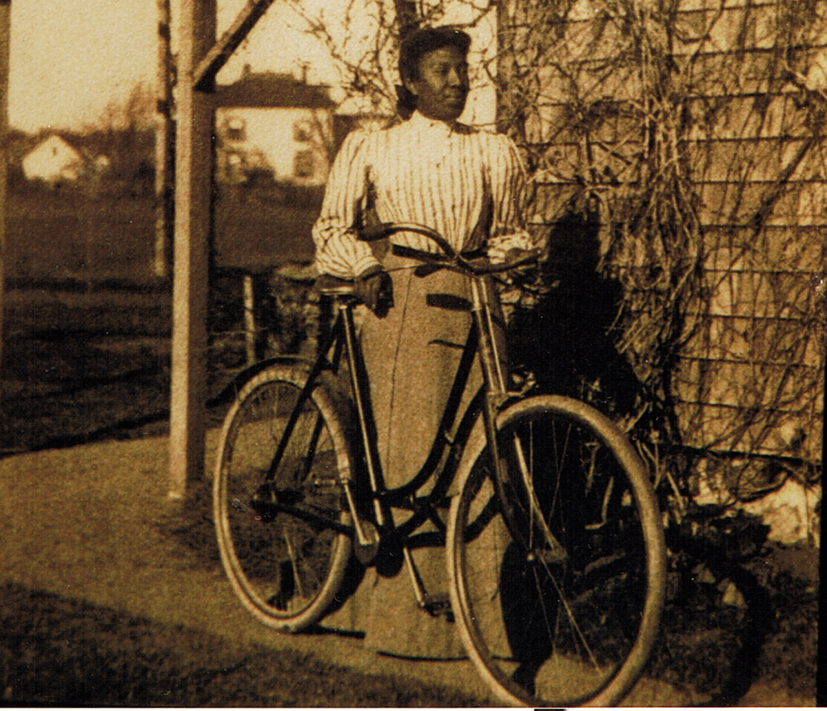 Emma Safford with her bicycle