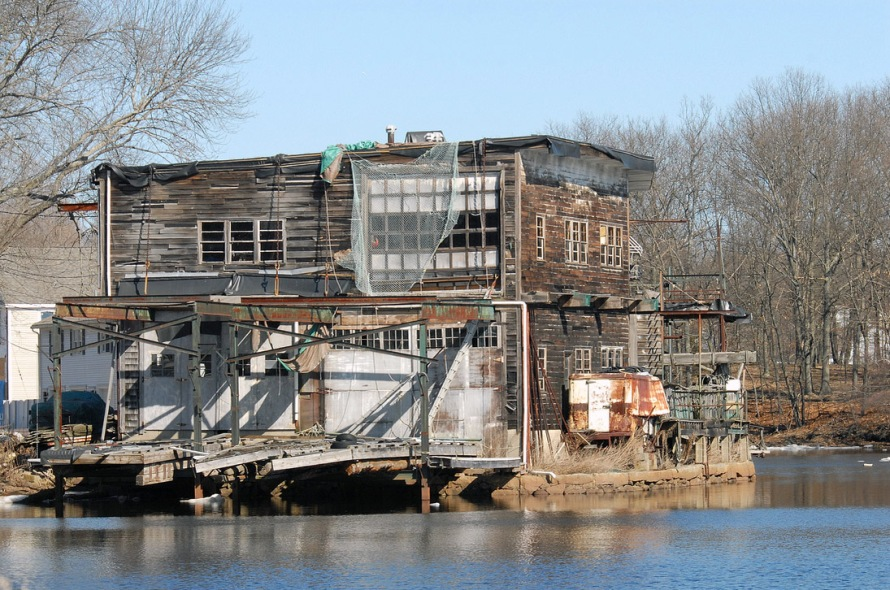 The former Melanson's boatyard in Ipswich. Photo by Michael Kent.