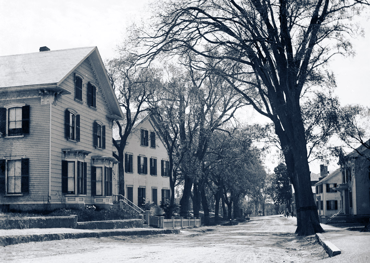 North Main St. in the 1800s