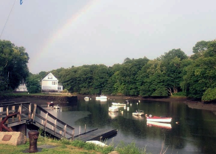 """The """"pot of gold"""" is just beyond the empty Melanson's lot in theis August 2015 photo by Ipswich poet David Wallace."""