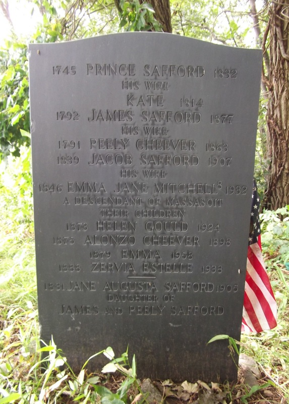 Safford family gravestone at the Old North Burying Ground
